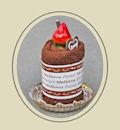 Полотенце-сувенир «Пирожное с ягодкой»