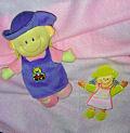 Плед + кукла 70*80 см