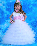 Эффектное пышное платье из многоярусных оборок из фатина