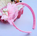 ободок мишка розовый