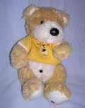 мишка Тедди в желтой футболочке 22 см