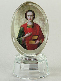 «Целитель Пантелеимон» икона со светодиодом