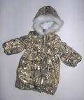 Пальто утепленное для девочки «золотистое»