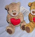 мишка Тедди с сердечком 11 см