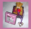 Кулон «Сердце» + медвежонок в коробочке