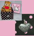 колье Сердце в подарочной упаковке мишка с сердцем