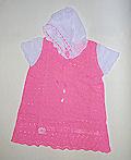 Платье вязаное с капюшоном