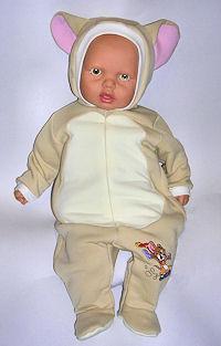 На штанине вышивка из мультика Диснея – проказник и милашка – мышонок Джери.